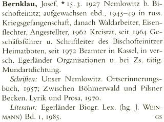Jeho heslo v lexikonu německé literatury 20. století