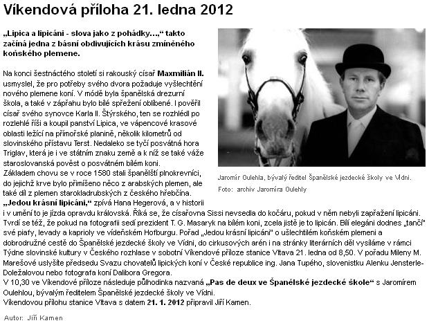 Ve víkendové příloze rozhlasové stanice Vltava zazněla v lednu 2012 celá Bernklauova báseň česky bez bližšího údaje o tom, že jde o překlad německého originálu z Kohoutího kříže
