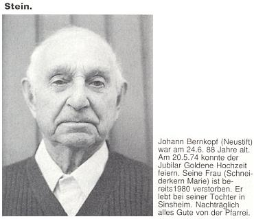 Jeho dědeček Johann Bernkopf