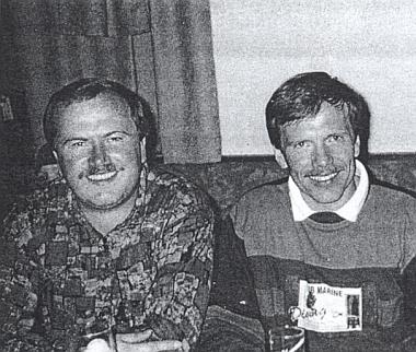 Bratři Bertlwieserevi: vlevo sedí Franz, vpravo Fritz