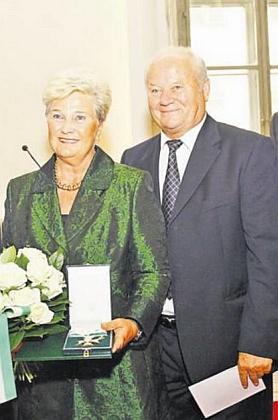 S manželem Franzem na snímku z roku 2011