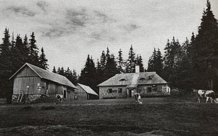 Hájenka a Javoří Pila (pilu na Javořím potoce založil Bienert v roce 1856)