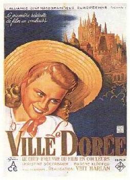 Plakát k uvedení filmu v okupované Francii...