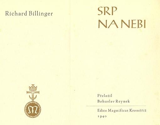 Obálka (1940) knihy vydané v Kroměříži (Edice Magnificat)