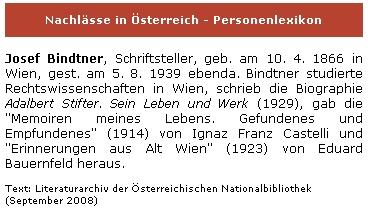 Záznam v biografickém slovníku Rakouské národní knihovny