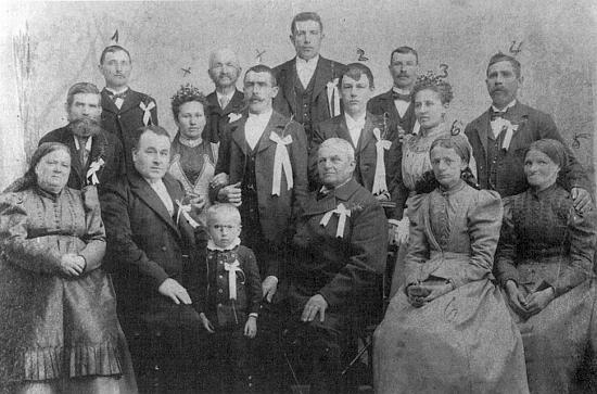 Dědečkova svatba roku 1901 v Chabičovicích
