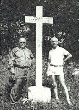 S Bruno Zannerem u pamětního kříže v zaniklých Kapličkách