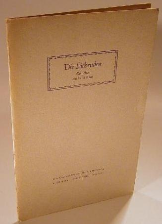 Obálka (1942) jednoho svazku jejích básní