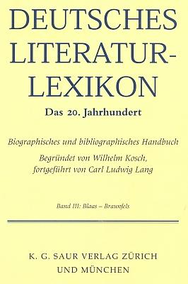 Z hesla jí věnovaného v renomovaném slovníku německé literatury 20. století (svazek Blaas - Braunfels) vyplývá jak její národně socialistické angažmá, tak ocenění literárními cenami Georga Trakla a Adalberta Stiftera v letech pozdějších