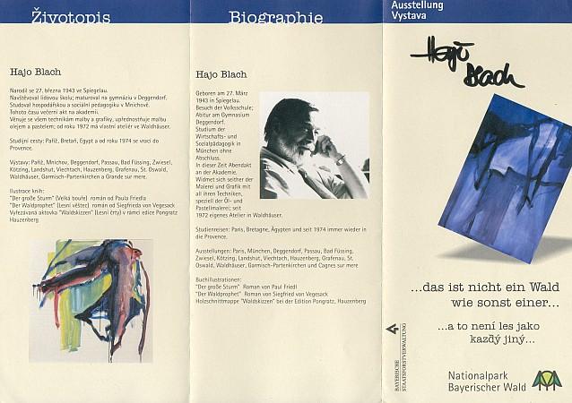 ... a pozvánka k výstavě v Hans-Eisenmann-Haus NP Bavorský les