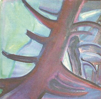 Jeho obraz Lesní hřbitov...