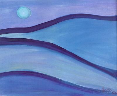 Lesní melodie, olejomalba z roku 2003