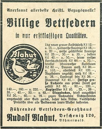 """Inzerce meziválečná (1935) označuje firmu za """"uznaně nejlepší křesťanskou ze všech"""""""