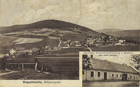Rodné Děpoltice na jiných dvou starých pohlednicích