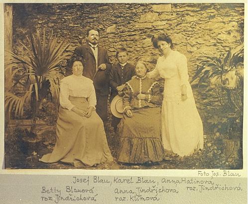 Fotografie rodiny Josefa Blaua