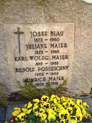 Jeho hrob ve Straubingu