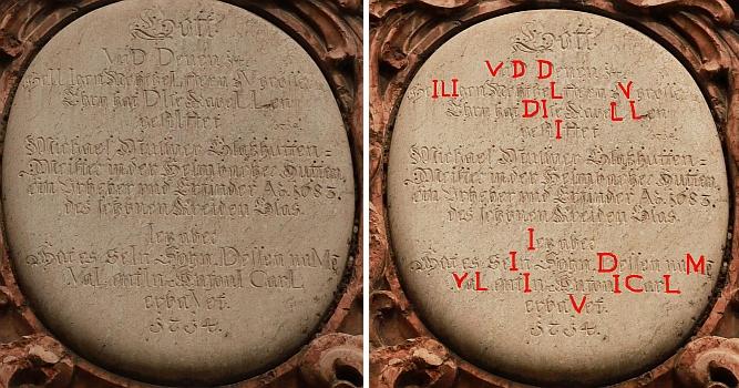 V roce 2015 mě pan Josef Pecka laskavě upozornil na omyl Františka Mareše v opisu textu desky, umístěné na vnější zdi kaple nad vchodem do ní a doprovodil své upozornění dvěma svými snímky z roku 2013 - zvýrazněný chronogram na jednom z nich potvrzuje správný letopočet 1714, nikoli tedy 1734