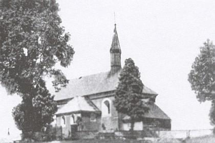 Kostelík sv. Anny nad Pořejovem kdysi...
