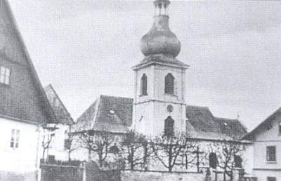 Pořejovský kostel svatého Bartoloměje mezi světovými válkami...