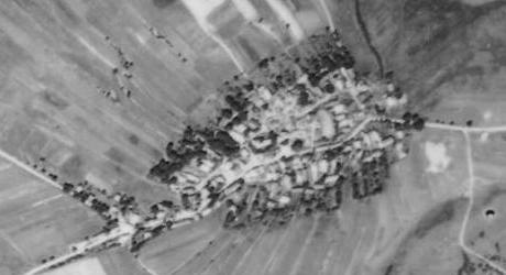 Rodný Pořejov na leteckých snímcích z let 1958 a 2008