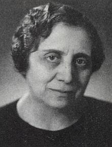 Lilli Blochová v roce 1939, rok před odjezdem do USA