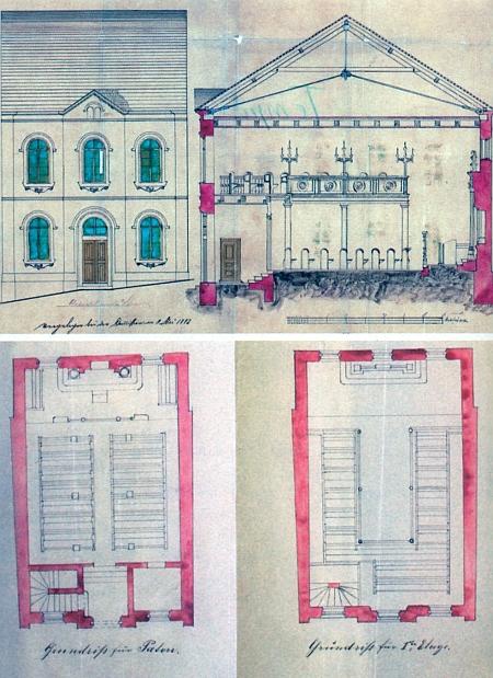 Stavební plány synagogy