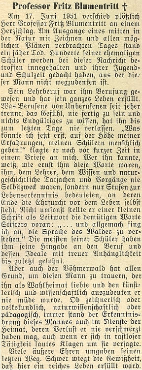 """Nekrolog v krajanském měsíčníku """"Hoam!"""", který nejspíš napsal jeho odpovědný redaktor Adolf Webinger"""