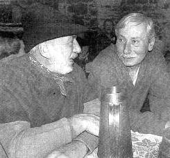 S účastníkem soumarské jízdy z bavorského Grainetu (vpravo)