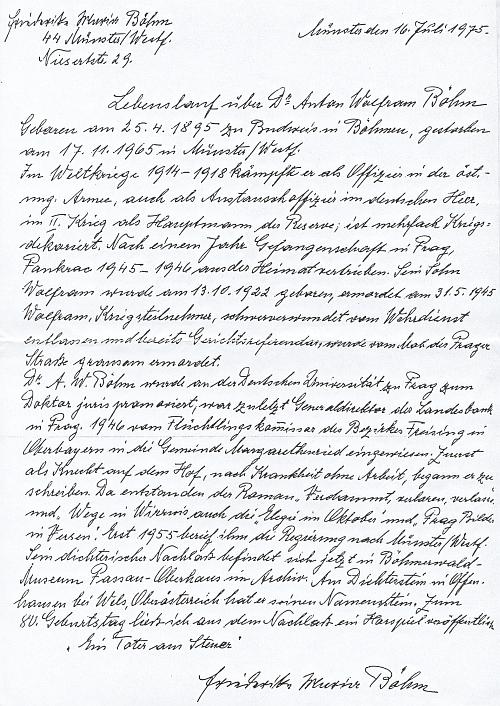 Jeho životopis, psaný necelých deset let poté, co zemřel, manželčinou rukou