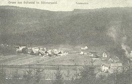 Sofiental im Böhmerwald - česky Řeka Černá (pohlednice)