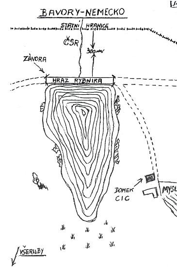 """Okolí Myslivského rybníka se stalo po válce a komunistickém převratu dějištěm neblahé akce STB, zvané """"Kámen"""", s fingovanou služebnou americké tajné služby na údajném už německém území"""