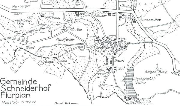 Jím kreslené dva plánky rodné vsi a jejího okolí, kde najdeme i jeho rodný dům čp. 34