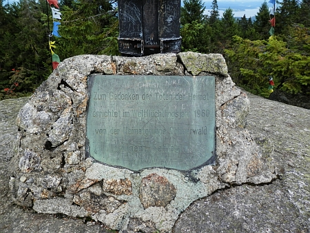 Pamětní kříž na Bärensteinu