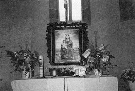 Obraz Madony z Cetvin, olej na dřevě, koruna a žezlo Madonino pokryto lístkovým zlatem, vznikl zejména podle záznamů avzpomínek v Böhmdorferově textu zmíněného Franze Reichersdörfera z Mikulova (Böhmdorf), po dohotovení pak u něho usedly autorovy vnučky Tina a Maika