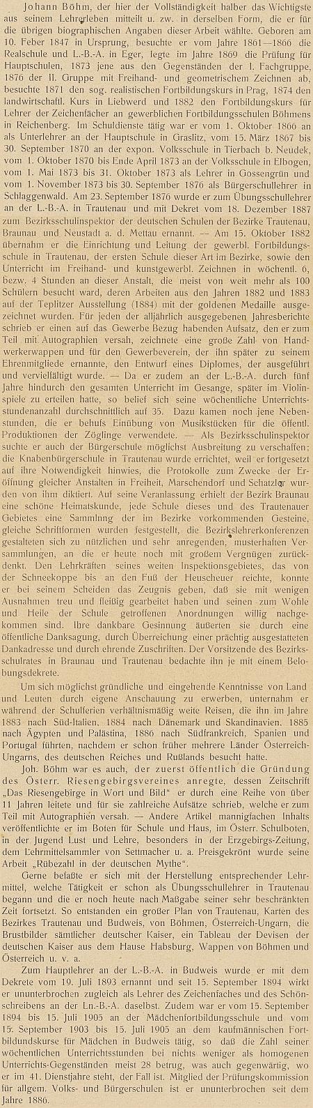Takto obsáhle ho představila výroční zpráva českobudějovického německého učitelského ústavu