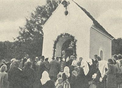 Kaple v rodné osadě Oberhäuser, dnes Rohy