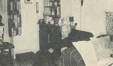 Paní Maria v penzionu pro seniory, kam byla přijata v září 1963
