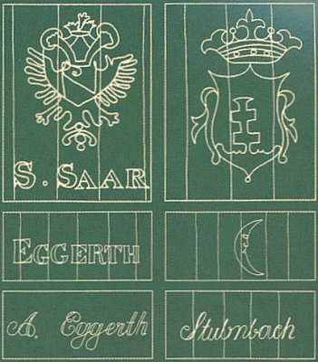 Ukázka filigránů z prášilské papírny