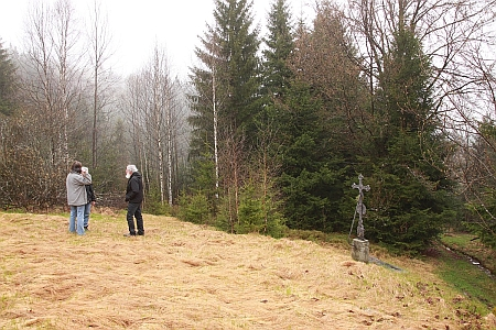 Místo, kde při Prášilech stávala zaniklá Horní papírna, na snímku z roku 2015