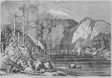 Takto přetiskl kresbu Eduarda Herolda (1820-1995), na níž dosud chybí obelisk, časopis Zlatá Praha