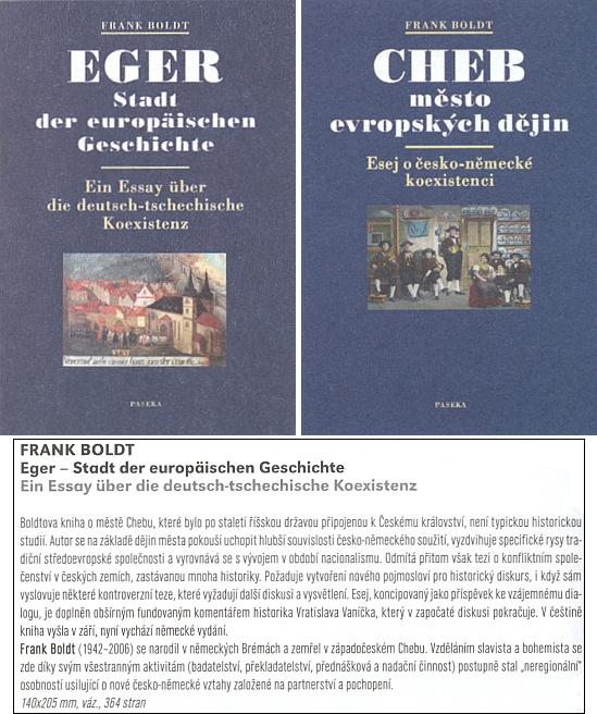 Německé (2011) a české (2010) vydání jeho knihy o městě, kde se rozhodl být pochován, v nabídce nakladatelství Paseka