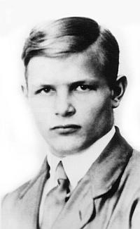 Jako student v roce 1923