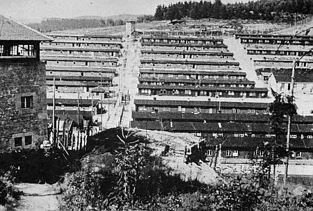Koncentrační tábor Flossenbürg, kde byl zavražděn esesmany