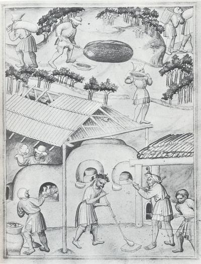 Už jedna z 28 ilustrací k cestopisu Sira Johna Mandevillea, miniatura z 15. století ve sbírkách Britského muzea, zachycuje práci sklářů z česko-bavorského pomezí (proslulá kniha byla do češtiny přeložena už v roce 1400 Vavřincem z Březové)