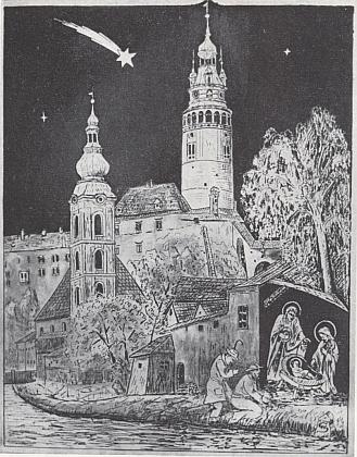 Českokrumlovské Vánoce na mědirytině Williho Schneidera
