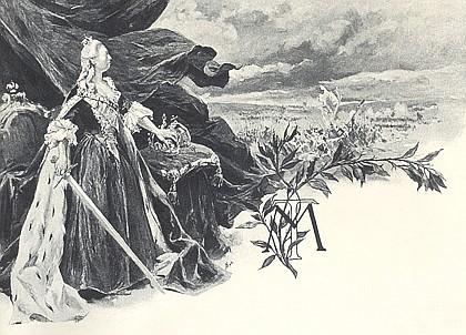 Apoteóza Marie Terezie od malíře Rudolfa Otto rytíře von Ottenfeld (1856-1913)...