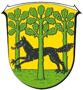 Znak severohesenského města Wolfhagen, jehož nejmenší částí je Elmarshausen, kde zemřel