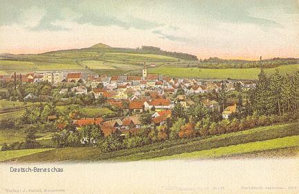 Benešov nad Černou - pohlednice z dob, kdy se ještě jmenoval jinak