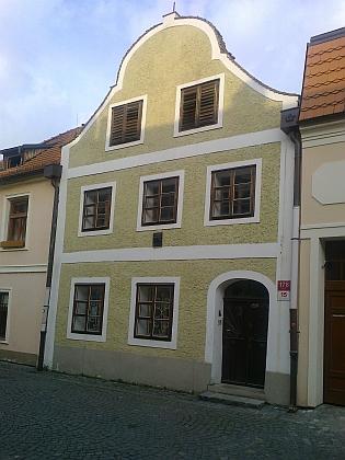 Rodný dům manželčin v českobudějovické Panské ulici