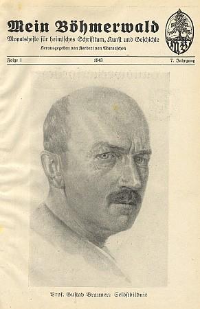 Titulní strana 1. čísla ročníku 1943 časopisu s jeho autoportrétem
